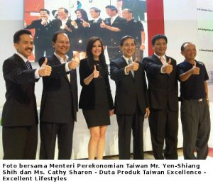 Foto bersama  menteri Perekonomian Taiwan