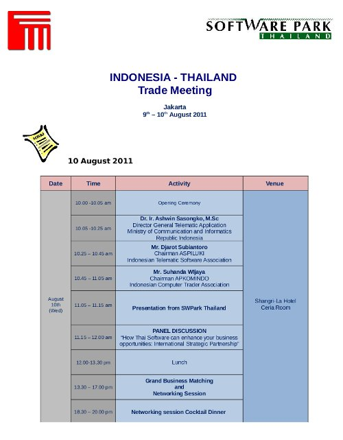 Indonesia Thai ICT 02