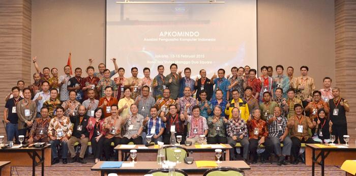 1. Foto Bersama Munas Apkomindo 2015 Pembukaan - Hari Pertama