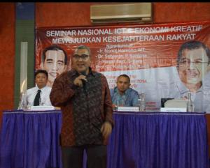 Hasnil Fajri, S.Kom - Seminar Nasional ICT dan Ekonomi Kreatif mewujudkan kesejahteraan Rakyat