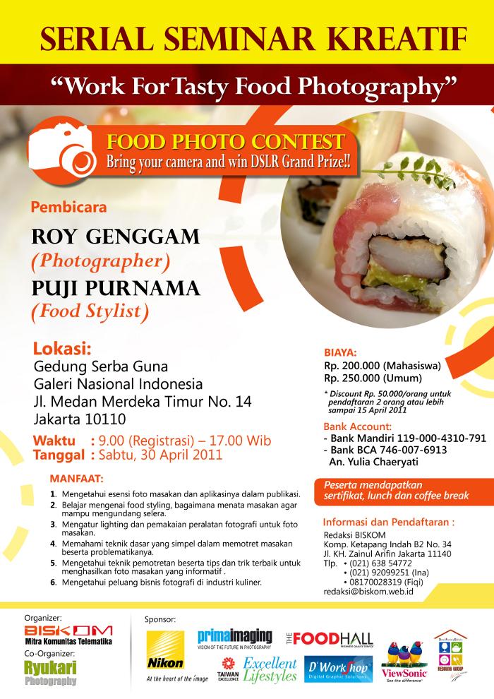 Poster Seminar food Photografi
